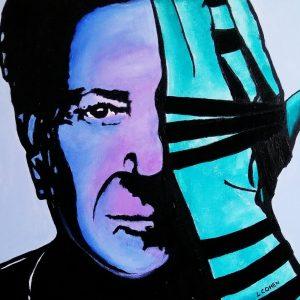 Portrait de Dustin Hoffman avec tefilines