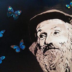 Tableau thème hébraïque papillon