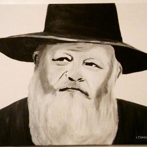 Portrait couleur sépia le Rabbi