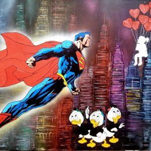 Tableau cartoon Superman