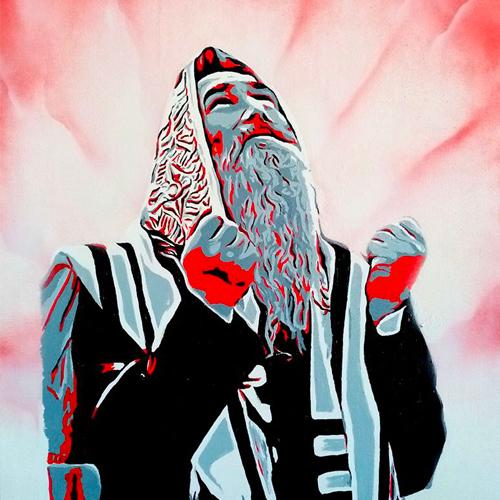 Portrait de Rabbin pour illustrer le thème hébraïque