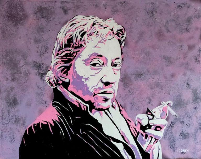 Portait peinture de Serge Gainsbourg