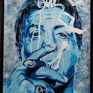 stallone fume un cigare